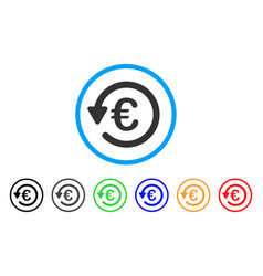 Euro rebate rounded icon vector