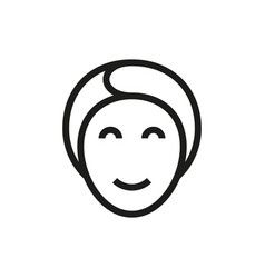 face mask icon on white background vector image
