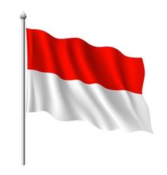 Flag indonesia vector