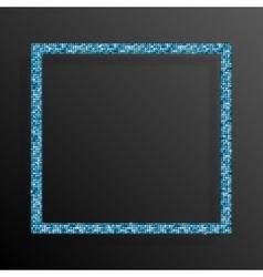 Frame Blue Sequins Square Glitter sparkle vector