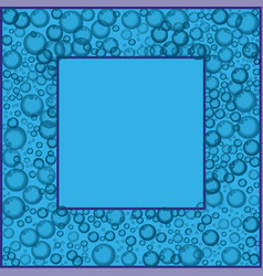 Frame with floating soap or soda bubbles pattern vector