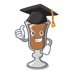 Graduation irish coffee character cartoon vector