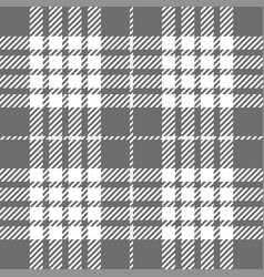 Grey tartan plaid seamless pattern vector