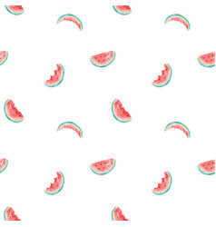 hand drawing watermelon vector image
