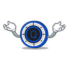 Hand up qash coin character cartoon vector