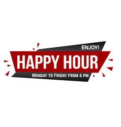 happy hour banner design vector image