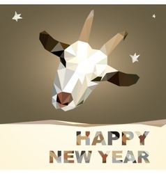 Happy New Year 2015 goat postcard vector image