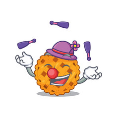 Juggling pumpkin pie in a character jar vector