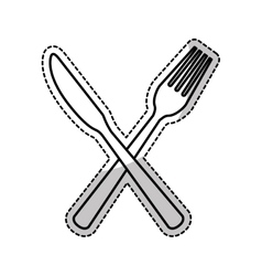 Kitchen cutlery icons vector