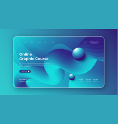 landing page design for online graphic course vector image