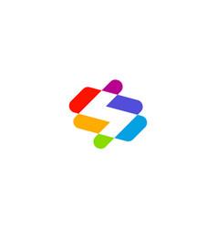 letter s colorful logo design concept vector image