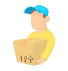 Loader man icon cartoon style vector image
