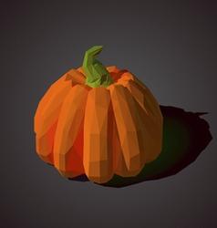 low poly pumpkin vector image