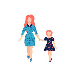 Mother with daughter vector