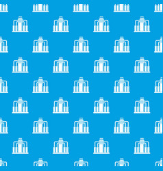 Oil refining pattern seamless blue vector