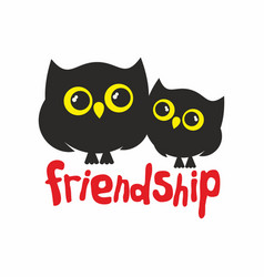 Owls friendship vector