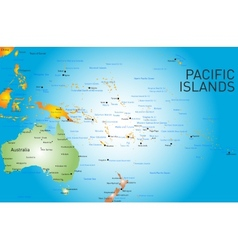 Pacific islands map vector
