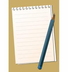 paper pencil vector image