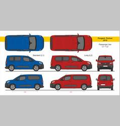 Peugeot partner passenger van l1 l2 2018-present vector