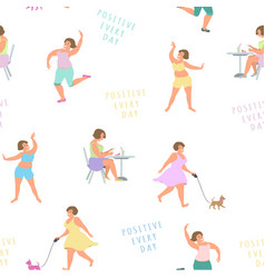 positive women play sports lead an active vector image