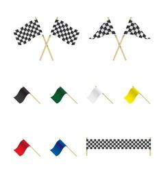 Racing flags set vector