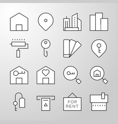 Real estate thin line icon vector