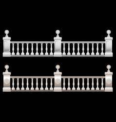 realistic 3d railing stucco marble stone vector image