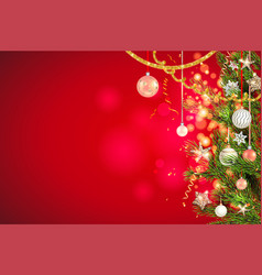 red festive background vector image