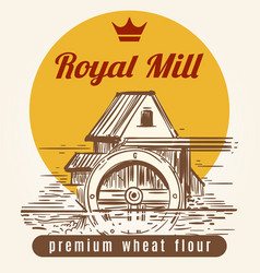 Royal mill banner design vector