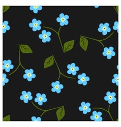 Seamless pattern forget me not vector