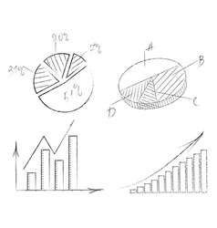 Set of graphs with arrows vector