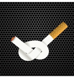 Single Cigarette Knotted vector image