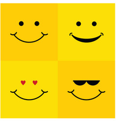 Smile set template design vector
