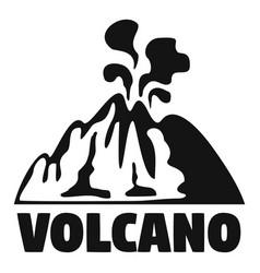 Smoke volcano logo simple style vector