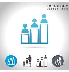 Sociology icon set vector