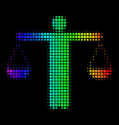 Spectral colored dot weight comparing person icon vector