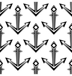 Stylized nautical anchors seamless pattern vector