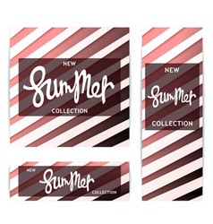 Summer banners abstract volumetric pattern vector