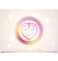 Summer valentines day labels design vector