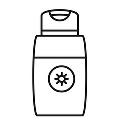 Sun lotion icon outline style vector
