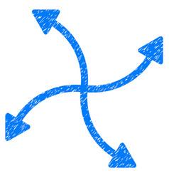 Swirl arrows grunge icon vector