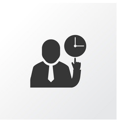 team time icon symbol premium quality isolated vector image