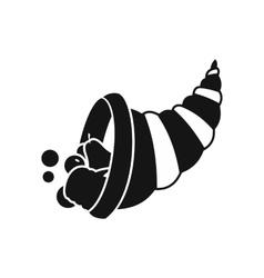 Thanksgiving cornucopia icon simple style vector image