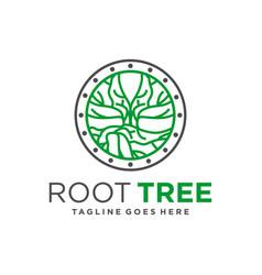 tree root symbol logo vector image