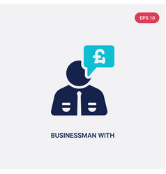 Two color businessman with pounds message in a vector