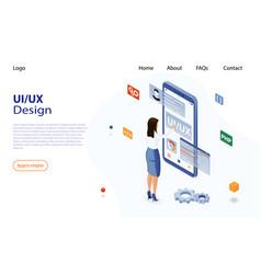 ui ux design concept ux ui vector image