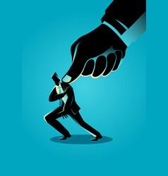 under pressure businessman vector image