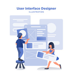User interface experience designer vector