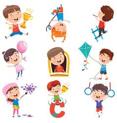Various activities vector