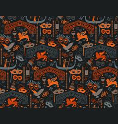 Venice pattern seamless design vector